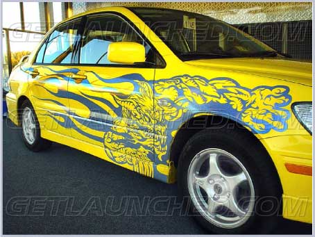 Dragon flames car graphics auto decals http www