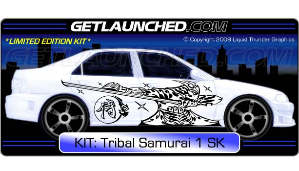 Tribal Samurai Car Decals 1
